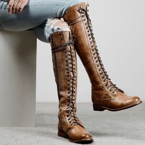 NWOT Bed Stu // Della Leather Lace Up Boots